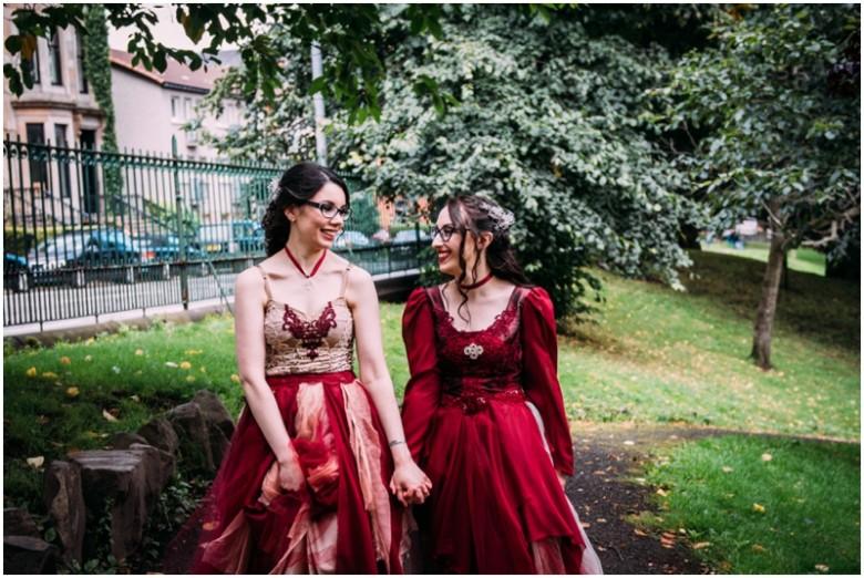 same sex wedding brides