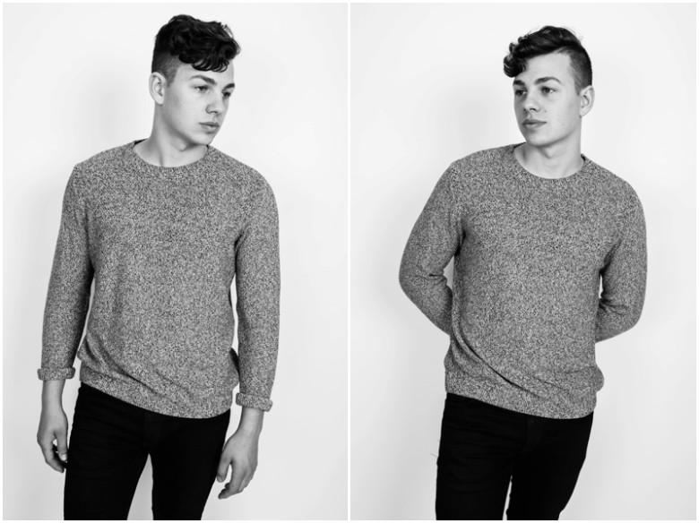 male model studio image