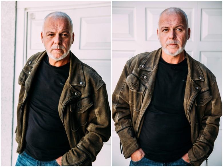 mature male model natural light image