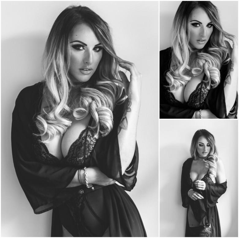 female model lingerie shoot