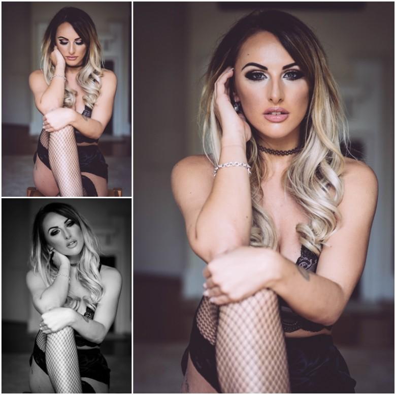 female model in lingerie