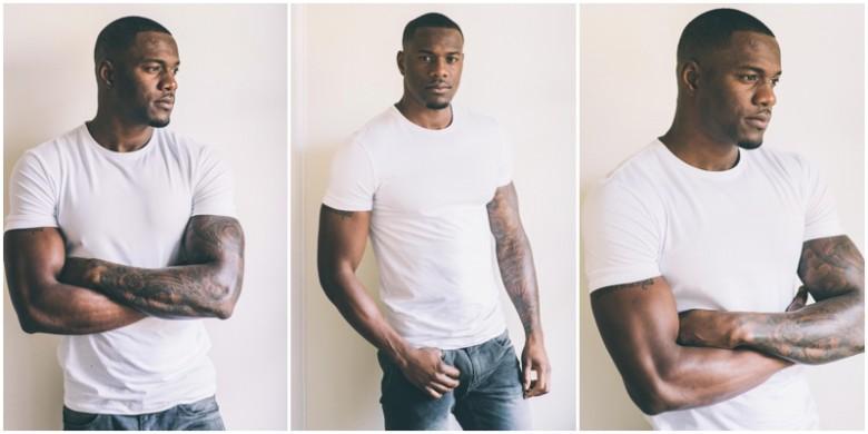 black model in tshirt