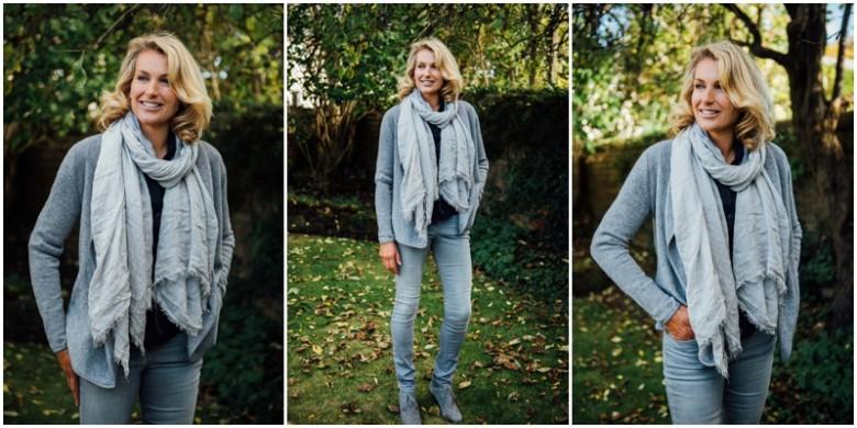 female model autumn portrait