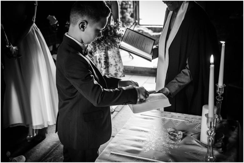 wedding ceremony in a scottish castle