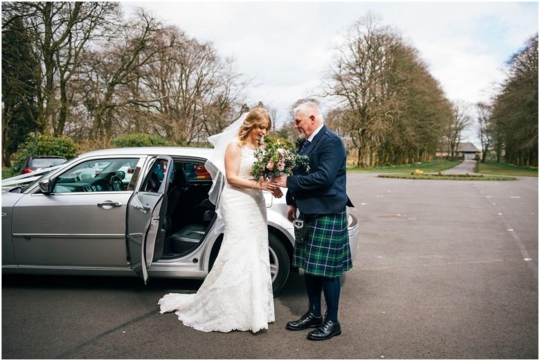 bride arriving for her wedding