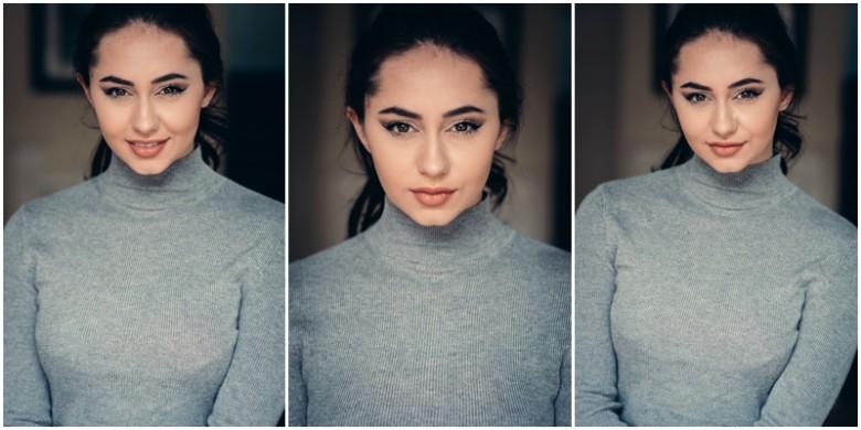 female model natural light image