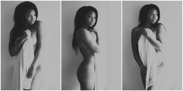 female model semi nude