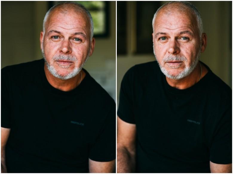 Male model portrait photoshoot