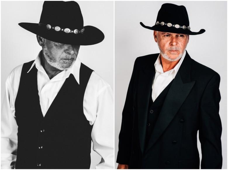 mature male model wearing a hat