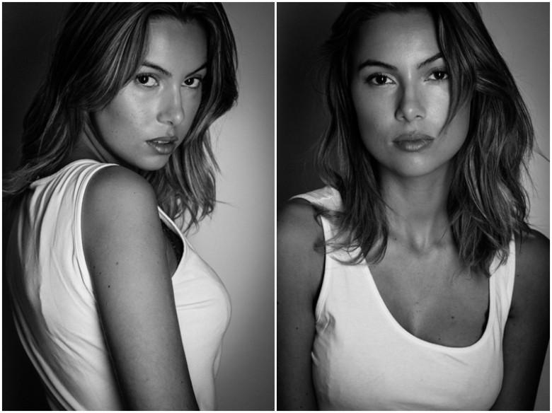 female model studio image