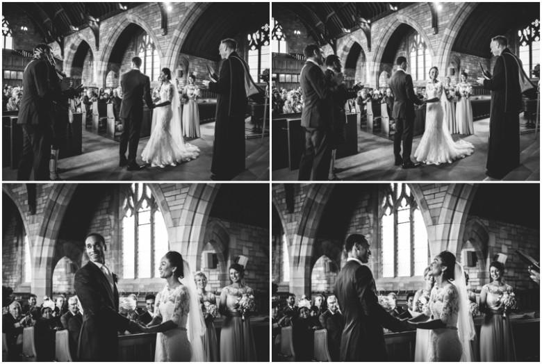 bride and groom wedding ceremony
