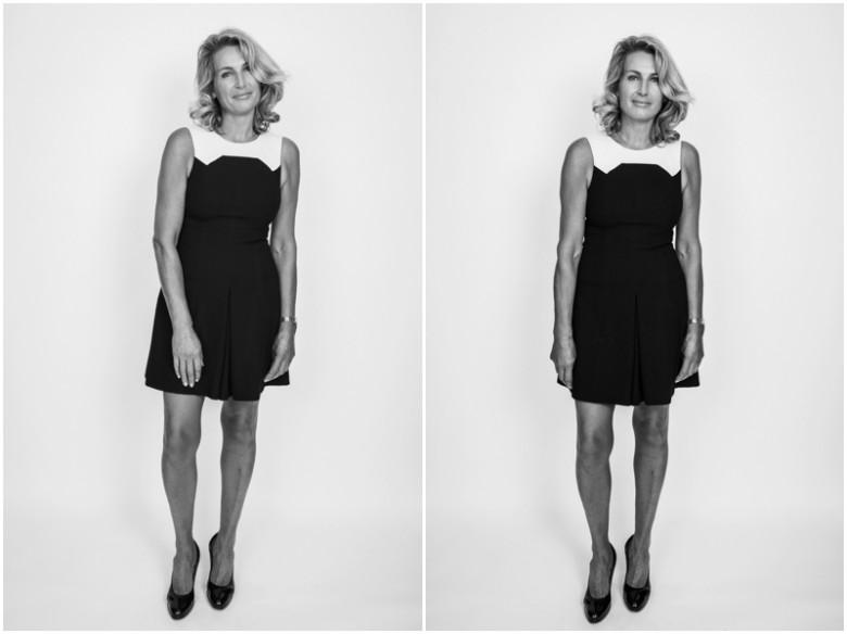 female model studio portrait