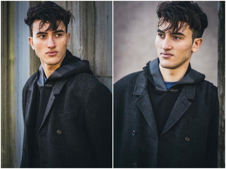 young male urban fashion photoshoot
