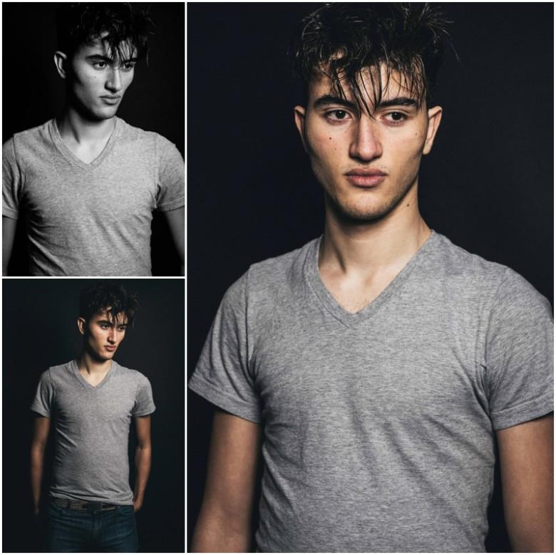 young male studio fashion photoshoot