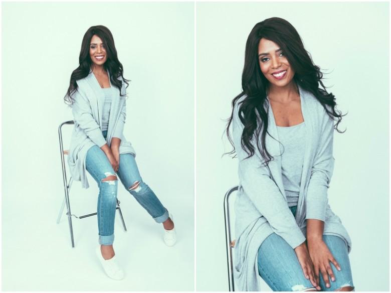 black female model fashion studio images