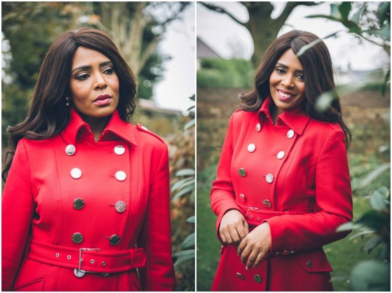 black female model in a garden fashion images