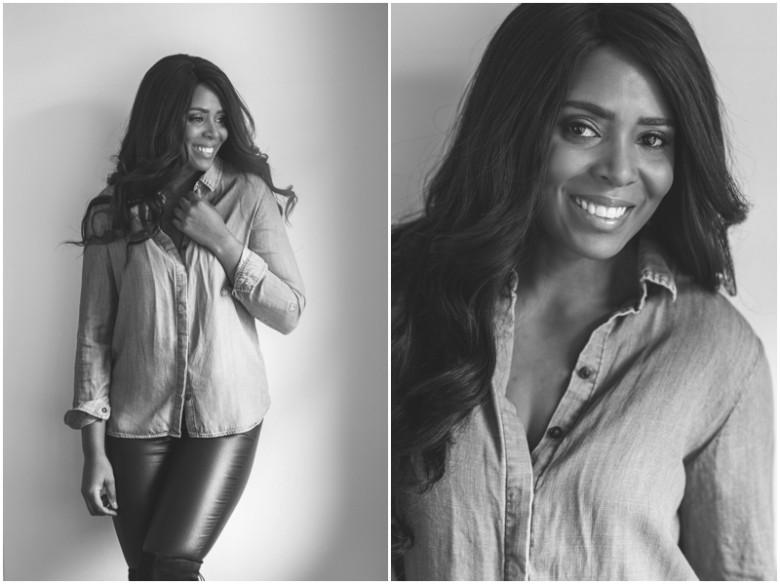 black female model natural light portrait images