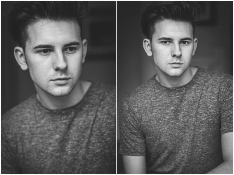 male model portrait image in natural light