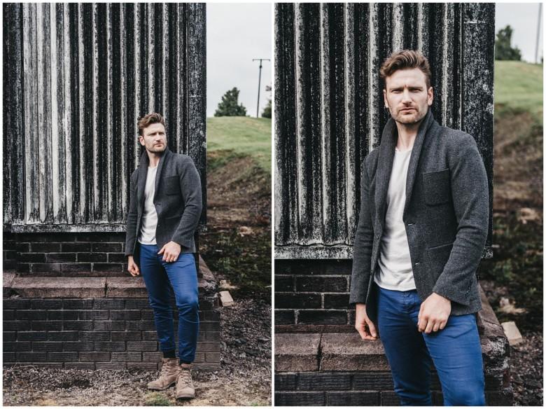 portrait photoshoot for male model