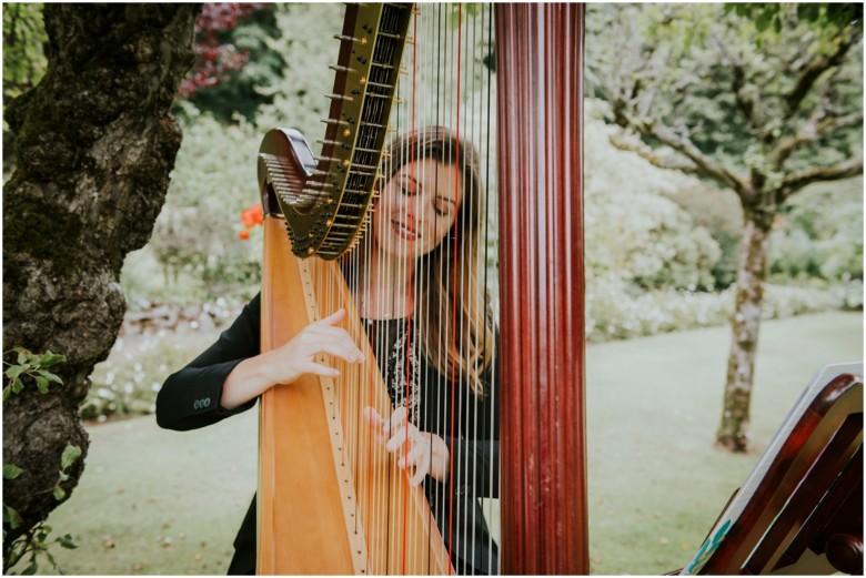 harpist at a wedding