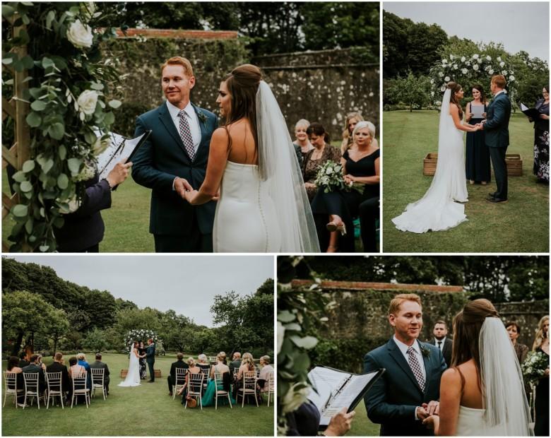 wedding ceremony at a scottish estate