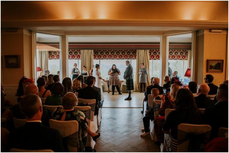 bride and groom's wedding ceremony